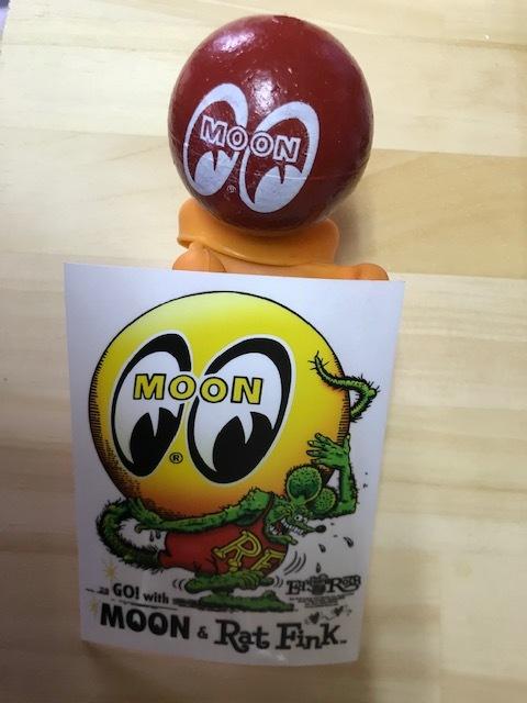 RatFink x MOON Eyeball Sticker 検索用→ムーンアイズ MOONEYES ラット フィンク アイボール_画像1