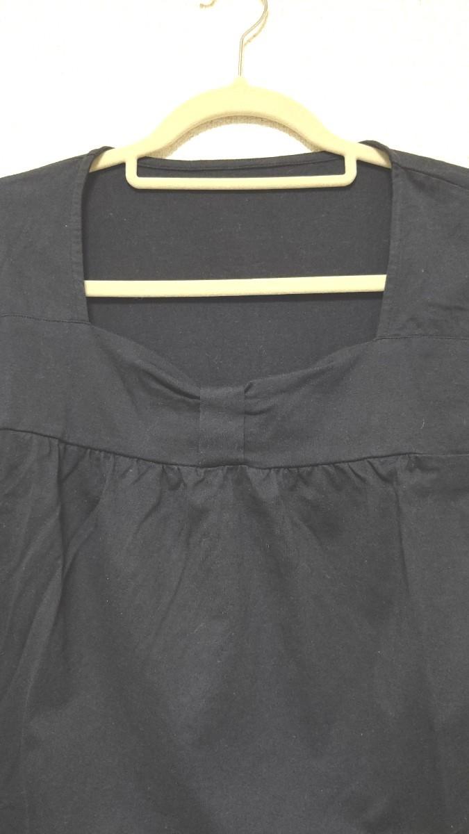 レディース カットソー トップス ブラウス 半袖 袖スケスケ LLサイズ