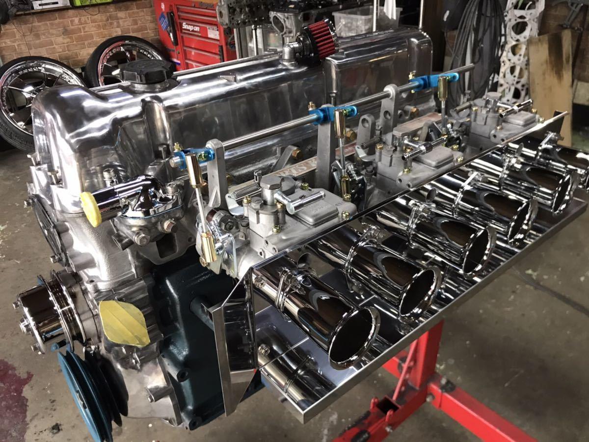 日産L型 L28改3.1L 3100cc ソレックス44 4型 タコ足 セット オーバーホール エンジン本体 ハコスカ ケンメリ S30Z 詳細画像あり