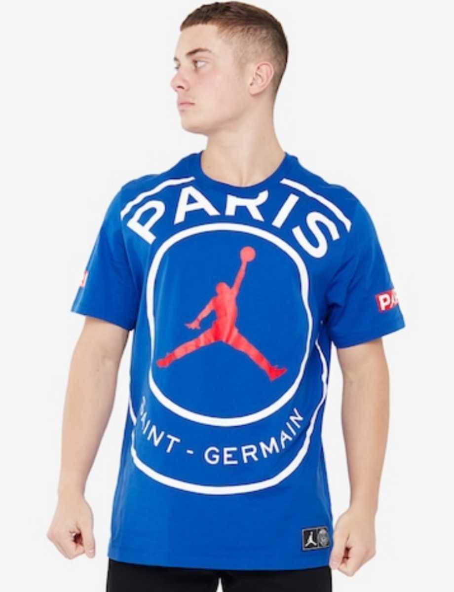 XLサイズ 新作 JORDAN PSG SS LOGO TEE ジョーダン パリサンジェルマン Tシャツ ブルー BLUE