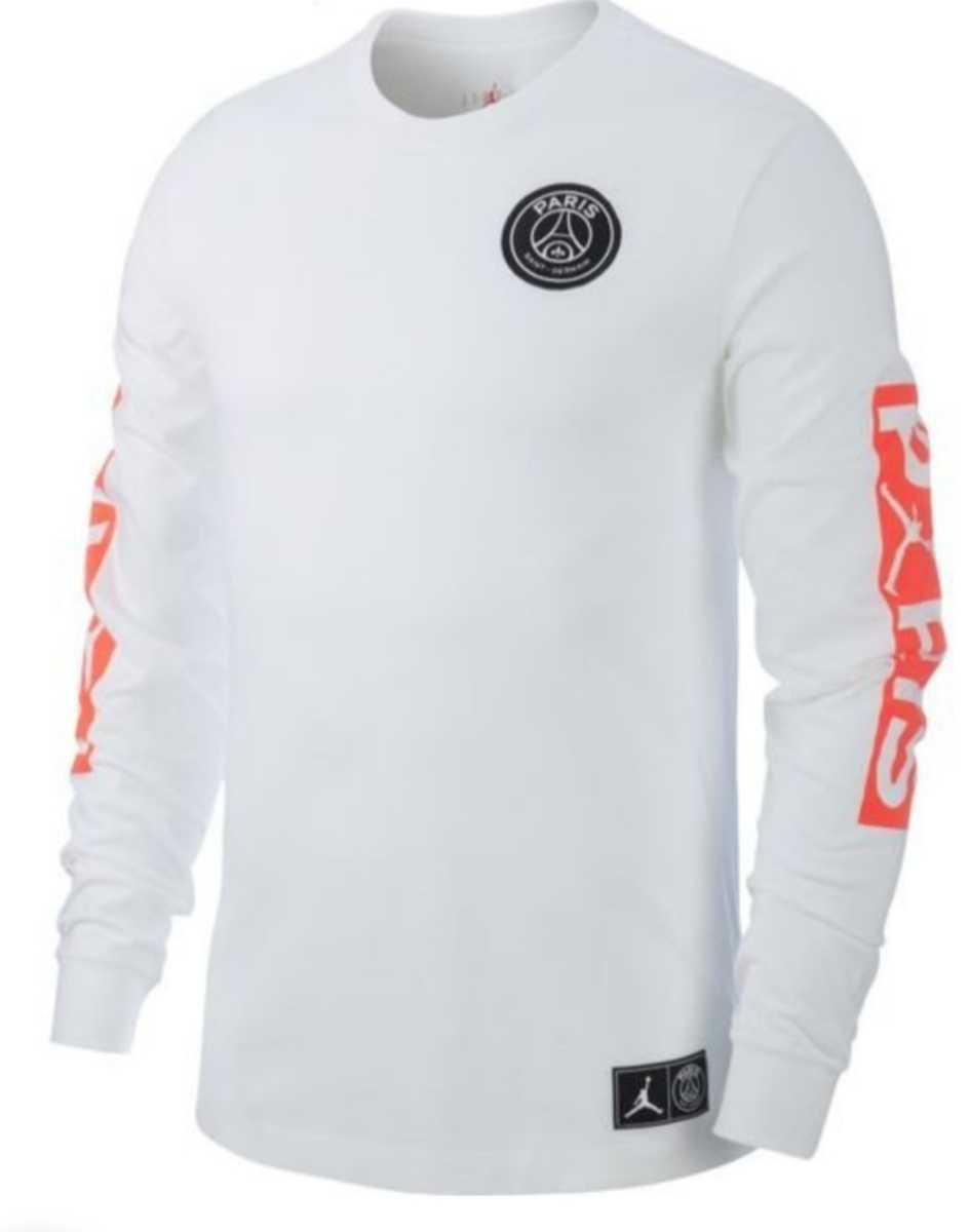 Sサイズ 新品 NIKE PSG JORDAN ロングTシャツ ロングスリーブ US 新品未使用 ロンT TEE white パリサンジェルマン ジョーダン