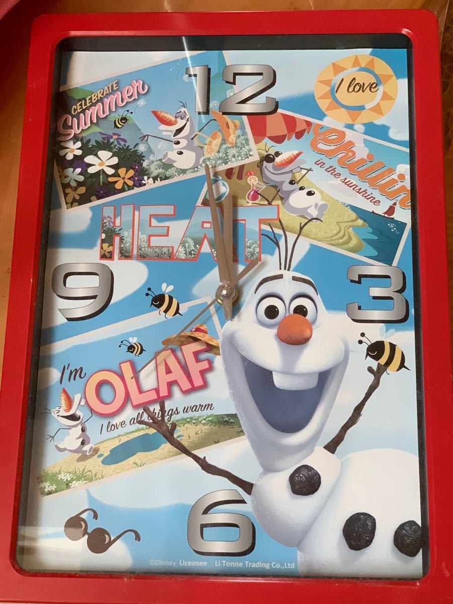 アナ雪のオラフ 壁掛け 時計