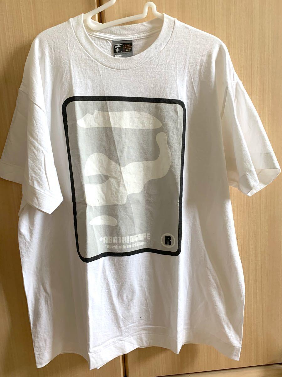 エイプ Tシャツ ロゴ ホワイト