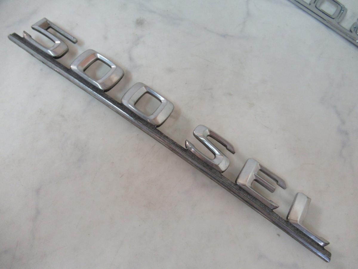 Mercedes-Benz(メルセデスベンツ)Sクラス(W126)500SEL純正エンブレム2個セット(126 817 06 15)未使用品_画像5