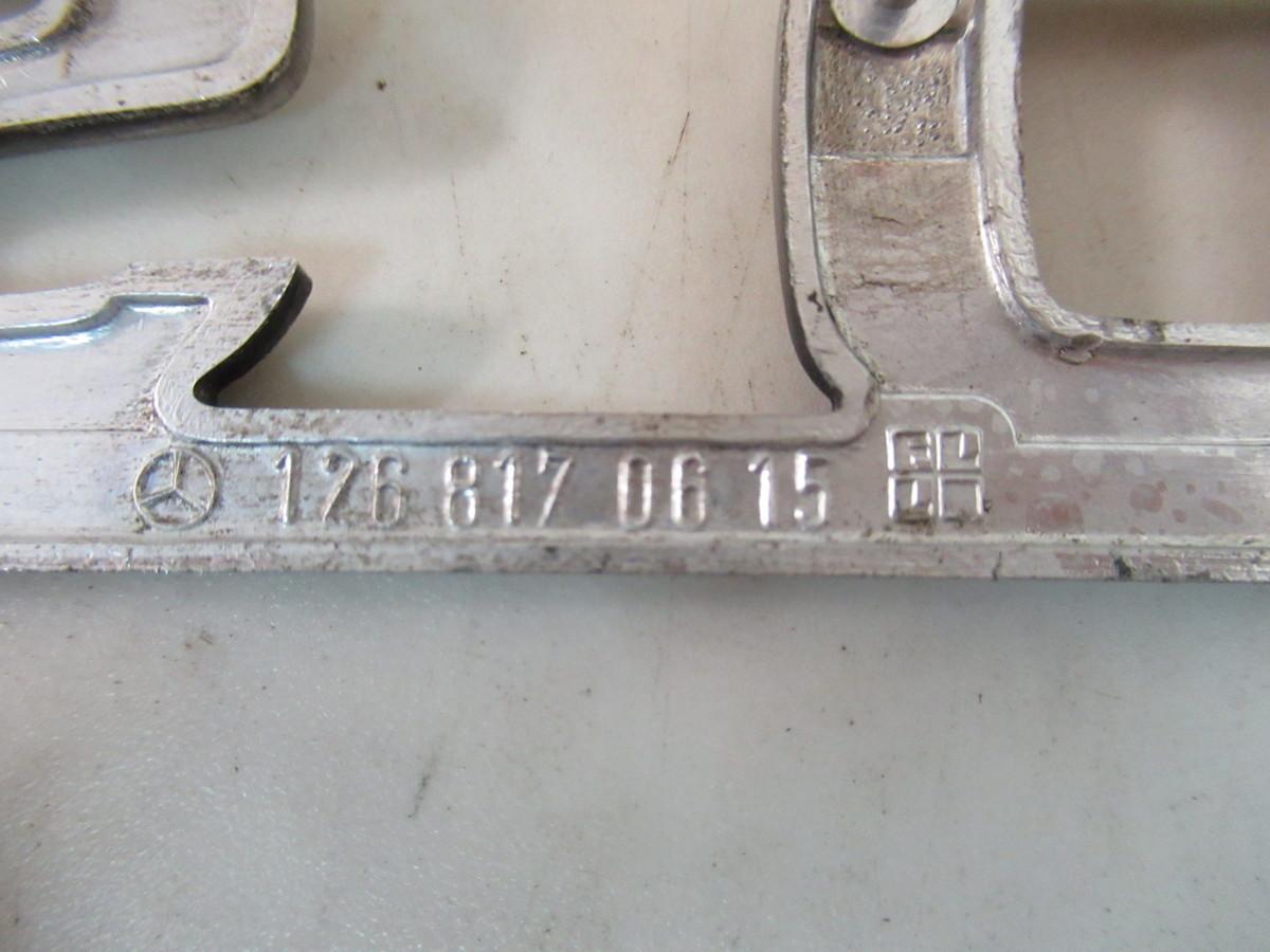 Mercedes-Benz(メルセデスベンツ)Sクラス(W126)500SEL純正エンブレム2個セット(126 817 06 15)未使用品_画像7