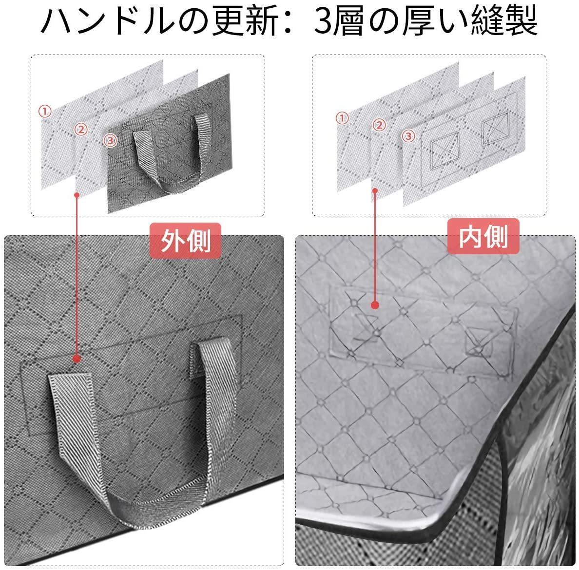布団収納袋 KING DO WAY 衣類整理ケース 折りたたみ可能_画像3