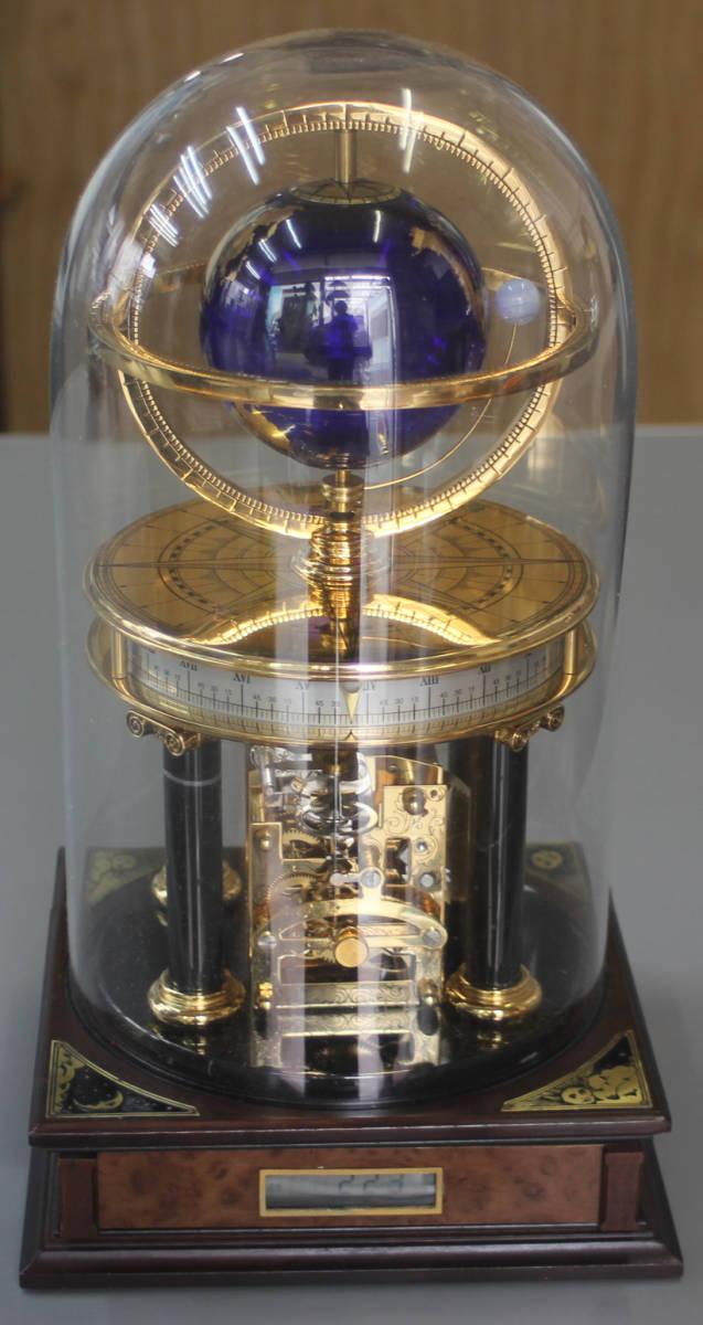 希少 英国王立地理学会 地球儀・天文時計 機械式 ミレニアム置時計 フランクリンミント/