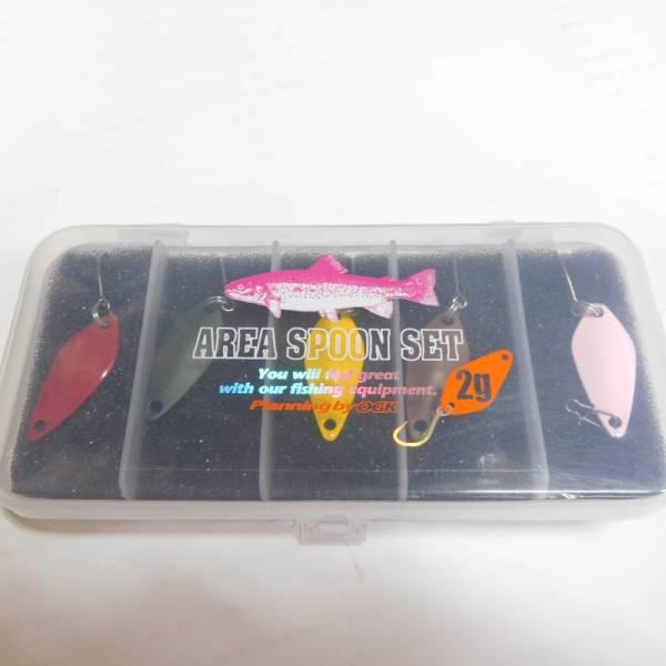 ◆(税0円)◆エリアスプーンセット 2g5個+ケース ◆(新品未使用)◆超特価!!!◆_画像1