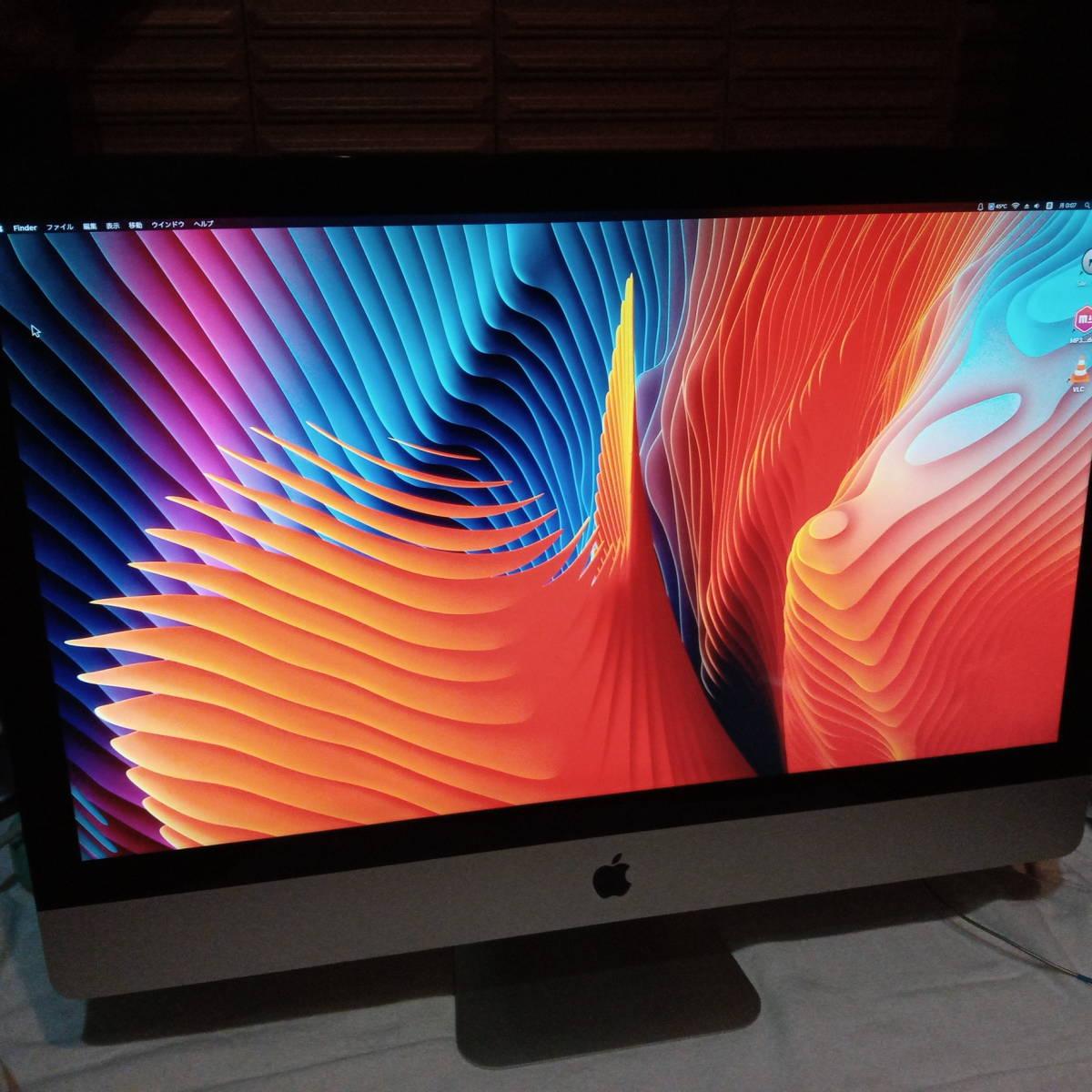 iMac 27インチ動作OK 初期化済み 発色良好 core i5 メモリ:12G HDD:1TB SuperDrive有