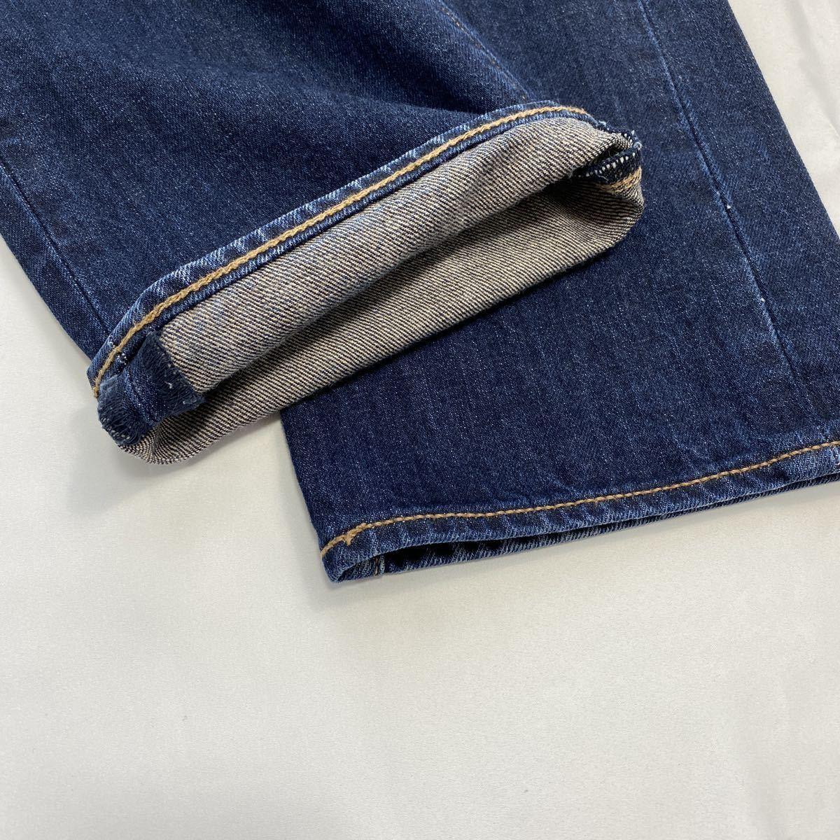 【32】Levi's 501 デニム ジーンズ 濃紺 ボタンフライ 定番 リーバイス ストレートパンツ アメカジ ストリート 革パッチ 現行