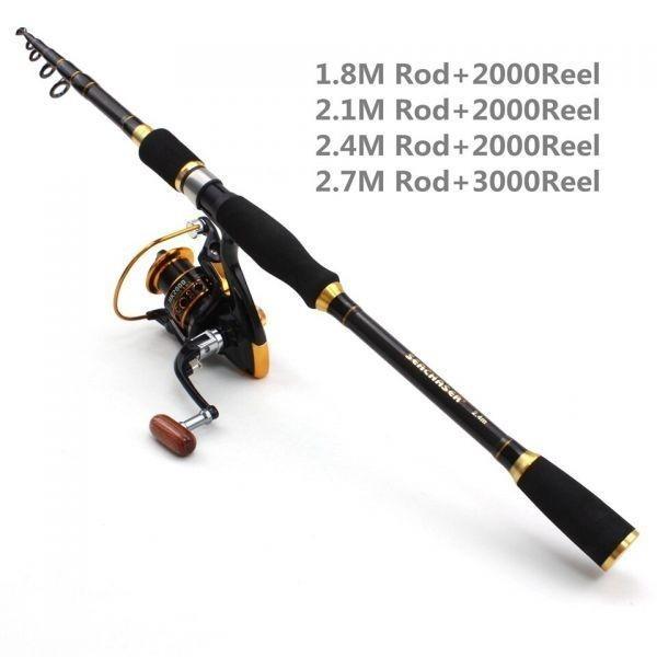 2.1m スピニングロッド 伸縮ロッドと12BBリールセット 99%カーボン 2.1M rod and Reel 新品 ルアーフィッシングロッド -k0024_画像4