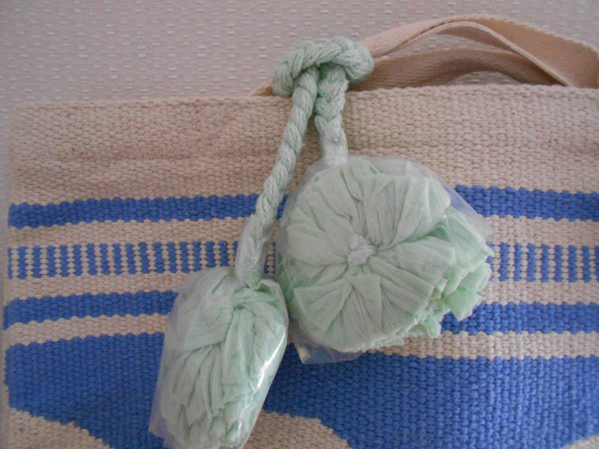 【新品】リラキャンベル バッグ 2way クラッチバッグ ブルー ハンドメイド Lilas Campbell