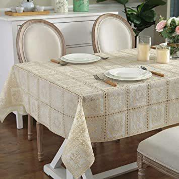 タイプ3 巾100×長さ138cm 1枚入り テーブルクロス ビニール テーブル 食卓カバー デスクマット おしゃれ レース柄 _画像3