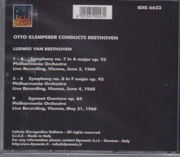 [CD/Idis]ベートーヴェン:交響曲第7番イ長調Op.92&交響曲第8番ヘ長調Op.93他/O.クレンペラー&フィルハーモニア管弦楽団 1960.6他_画像2