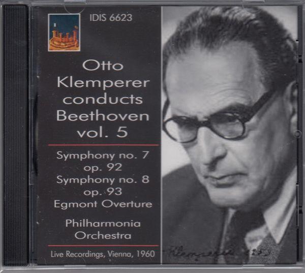 [CD/Idis]ベートーヴェン:交響曲第7番イ長調Op.92&交響曲第8番ヘ長調Op.93他/O.クレンペラー&フィルハーモニア管弦楽団 1960.6他_画像1