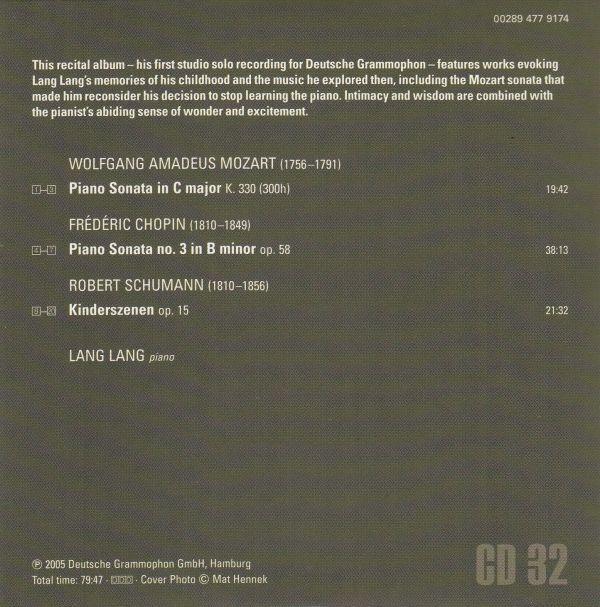 [CD/Dg]ショパン:ピアノ・ソナタ第3番ロ短調Op.58他/ラン・ラン(p) 2005.8_画像2