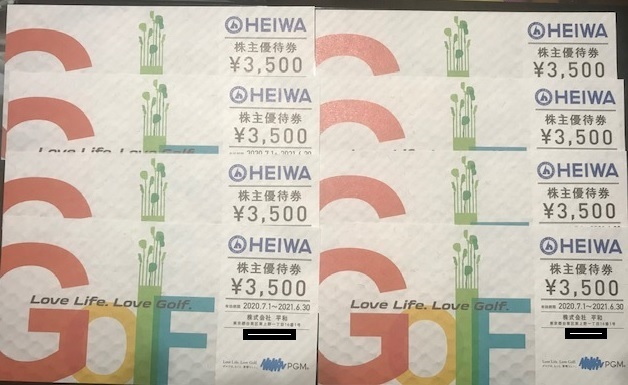 HEIWA 平和 PGM 株主優待券 28,000円分 有効期間 2021年6月31日まで_画像1
