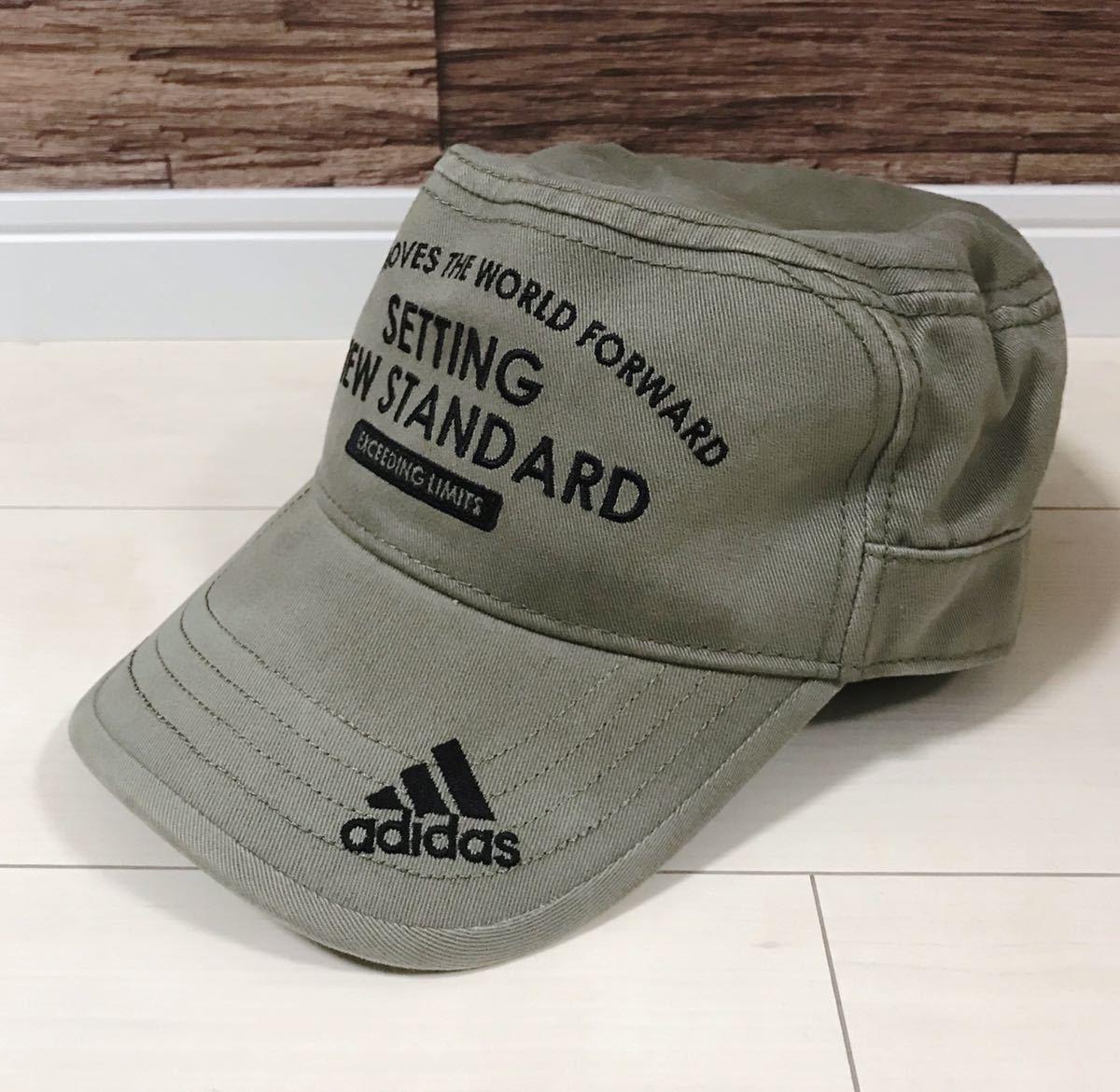 【良品】adidas ワークキャップ オリーブ アディダス 帽子