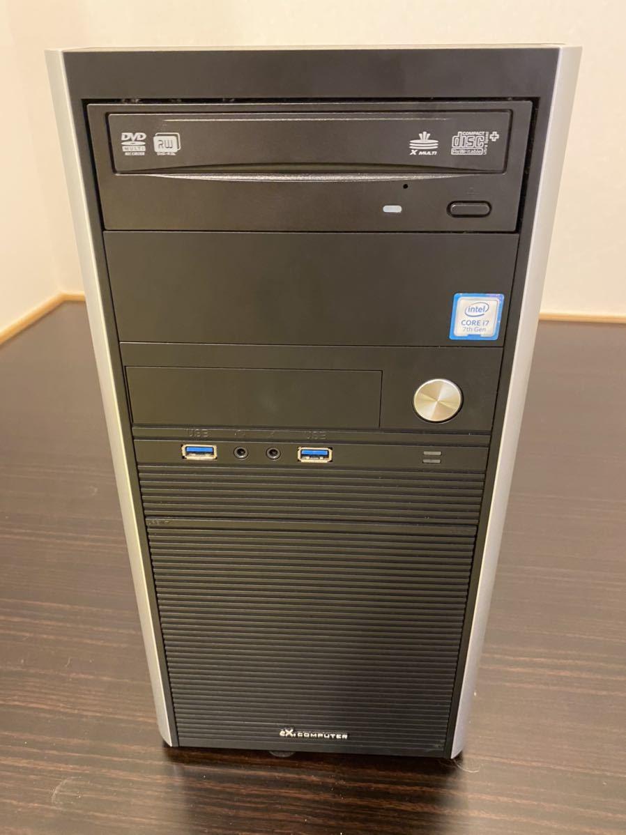 【送料無料】Core i7 7700 Windows10 SSD256G HDD メモリ16g 中古デスクトップPC 付属品有り_画像1