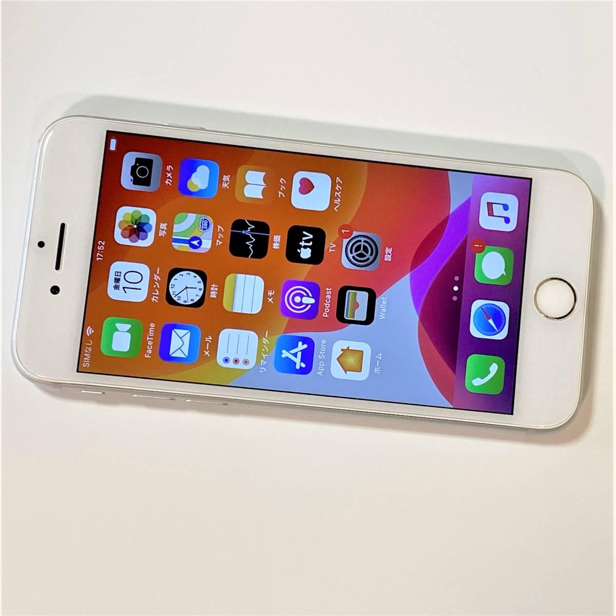 SIMフリー iPhone 8 シルバー 64GB MQ792J/A バッテリー最大容量91% docomo 格安SIM MVNO 海外利用可能 アクティベーションロック解除済