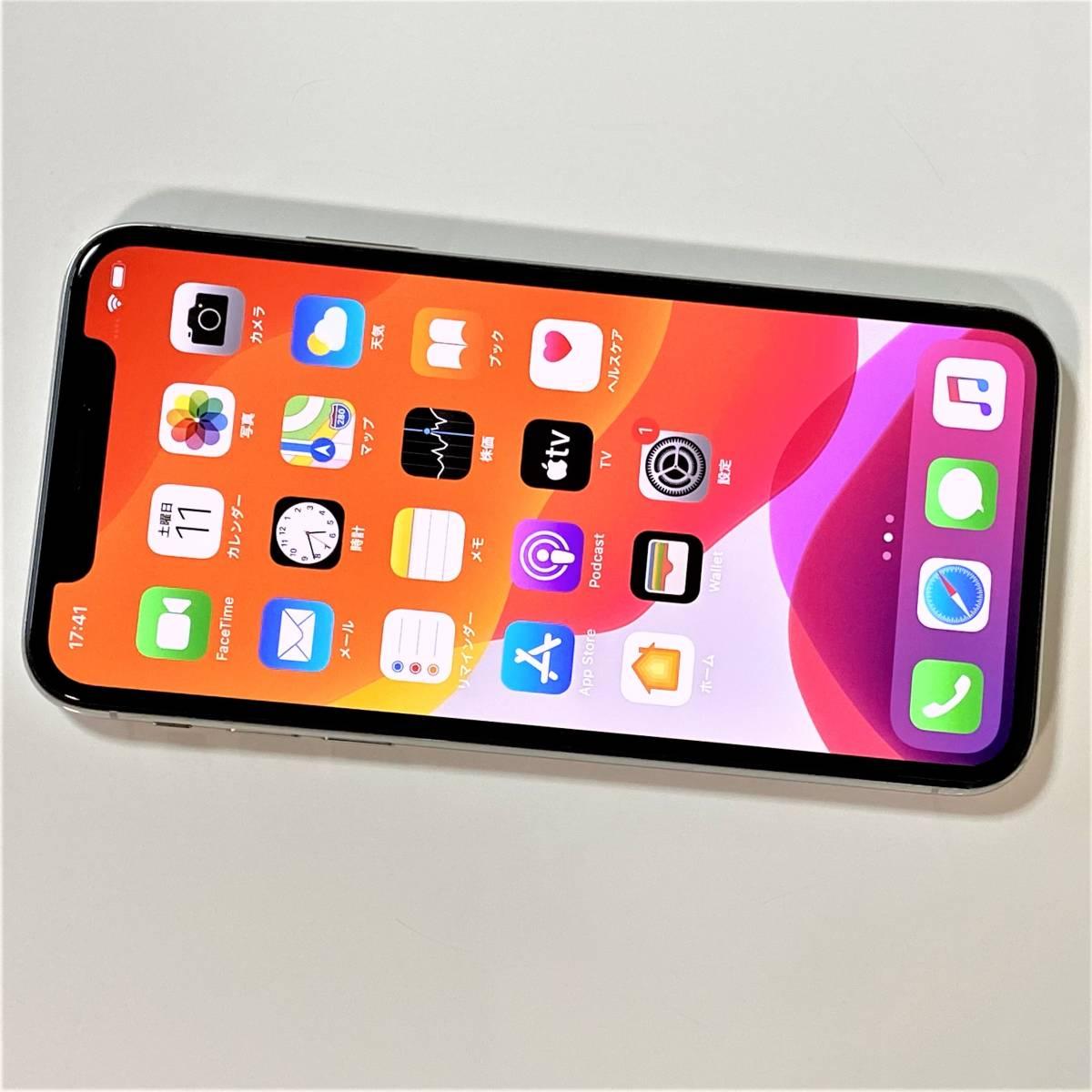 (美品) SIMフリー iPhone X シルバー 256GB MQC22J/A iOS13.5.1 docomo 格安SIM MVNO 海外利用可能 アクティベーションロック解除済