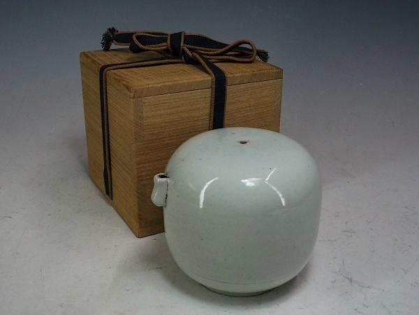 李朝 分院 白磁丸型水滴 白磁水滴 海坊主 書道具 朝鮮美術 韓国 高麗 7040
