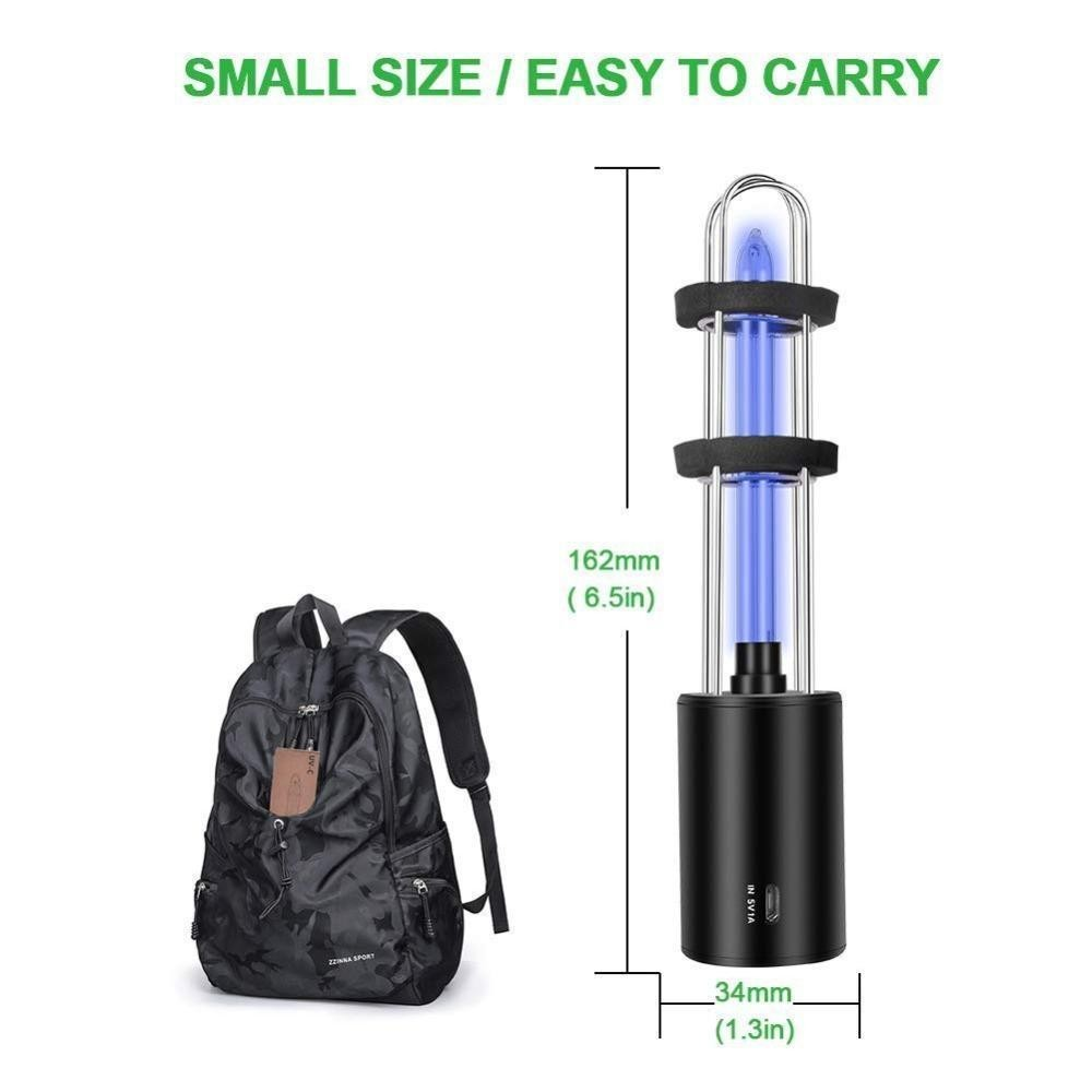 最安値保障します♪充電式 紫外線 uv 殺菌ライトチューブ 電球 消毒 殺菌 ランプ オゾン殺菌 ダニライトプレサージュ_画像3