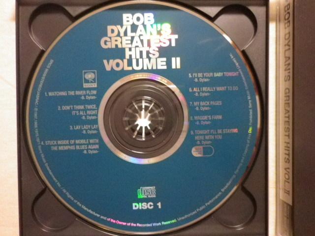 『Bob Dylan/Bob Dylan's Greatest Hits Vol.Ⅱ(1971)』(1995年発売,SRCS-9009/10,廃盤,国内盤帯付,歌詞対訳付,2CD,Lay Lady Lay)_画像3