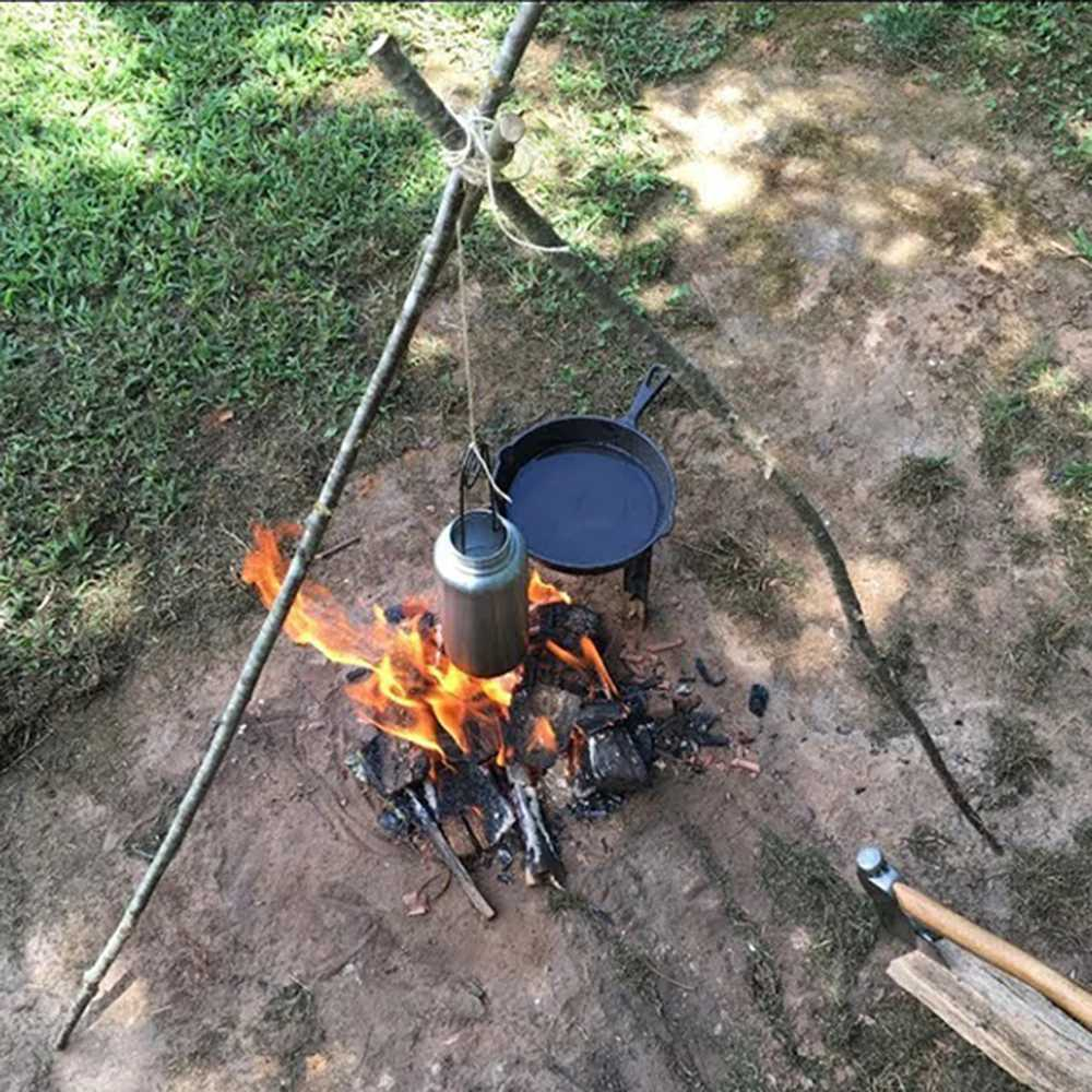 送料94円~ ポット ハンガー フック ボトル フィッシュ マウス オープナー 焚火 焚き火 キャンプ ブッシュクラフト サバイバル_画像3