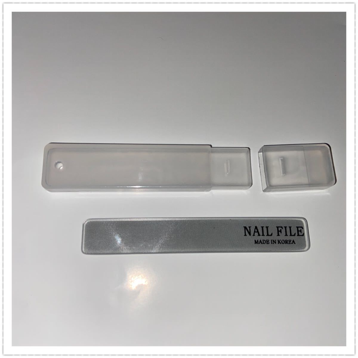 ガラス製 爪磨き 2個 / ネイルケア ネイルシャイナー 爪やすり 韓国