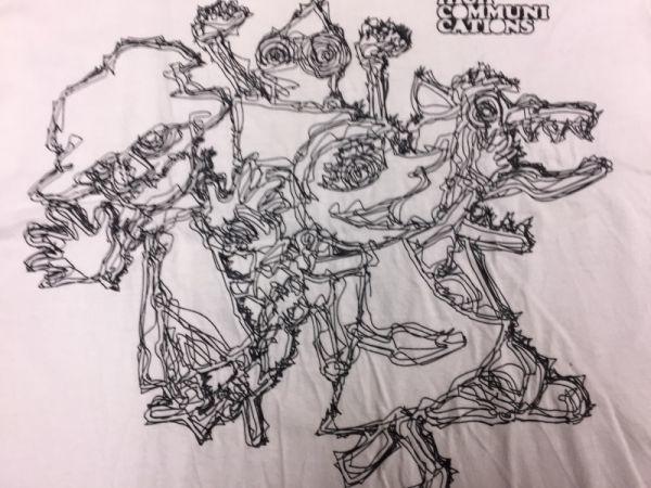 【送料240円】 グレイ GLAY 半袖バンドTシャツ メンズ HIGH COMMUNICATIONS ライブ ツアー 2003 アートプリント コンサート バンT 白_画像3