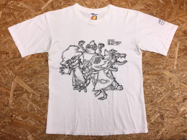【送料240円】 グレイ GLAY 半袖バンドTシャツ メンズ HIGH COMMUNICATIONS ライブ ツアー 2003 アートプリント コンサート バンT 白_画像1