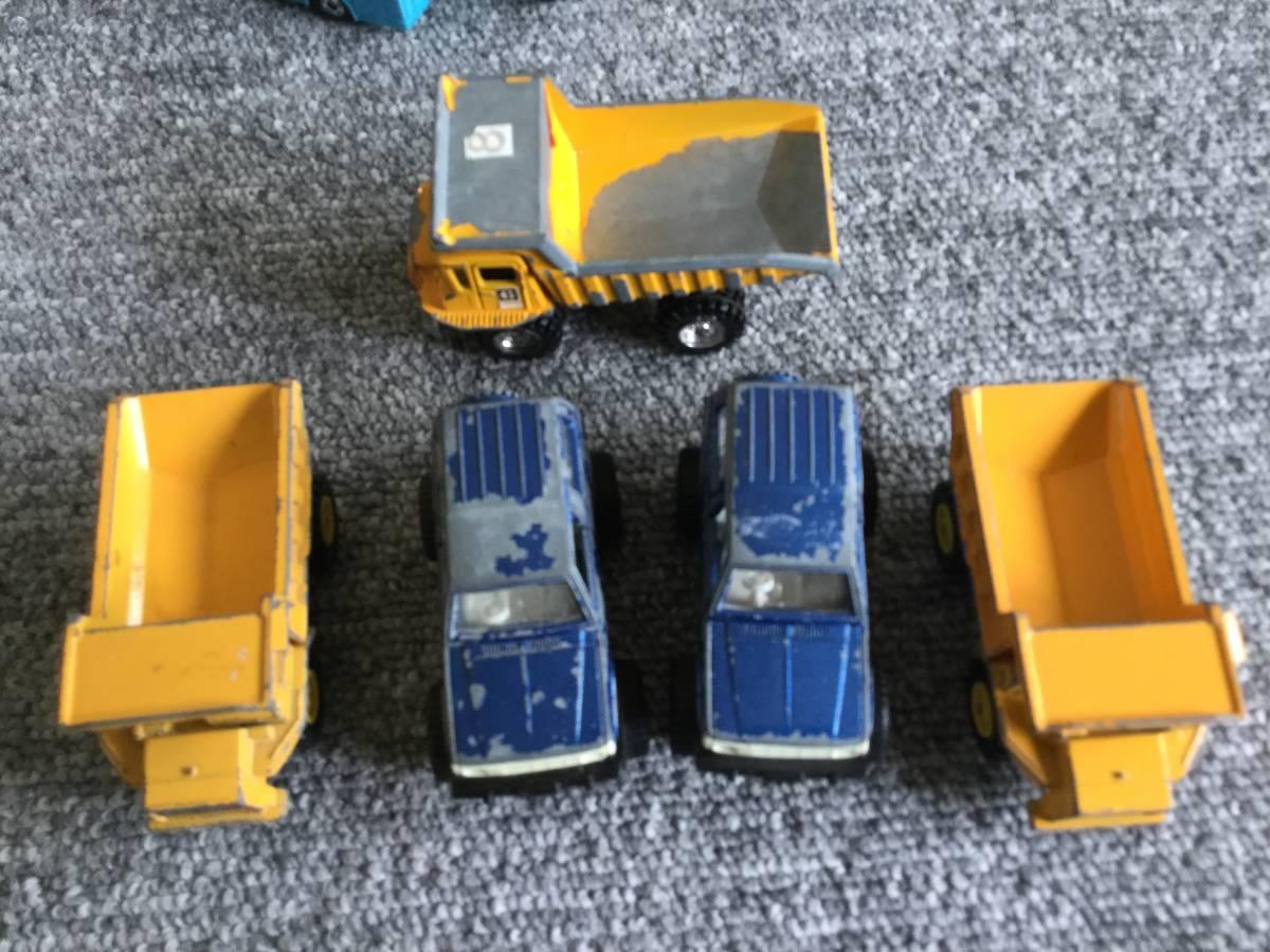 トミカ 日本製 ジャンク品 バス、タクシー、働く車色々 36台全て日本製 ④ 送料無料_上部ダンプ永大グリップです