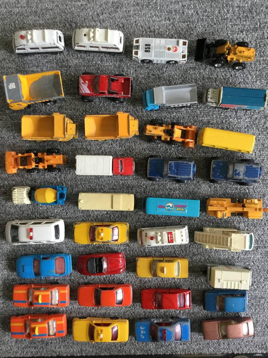 トミカ 日本製 ジャンク品 バス、タクシー、働く車色々 36台全て日本製 ④ 送料無料_画像1