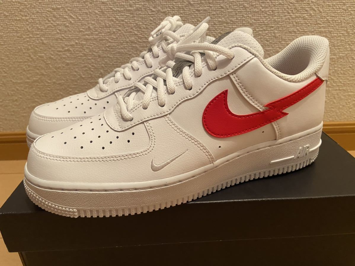 """26.5cm NIKE AIR FORCE 1 07 LOW """"Euro Tour"""" White/University Red新品正規品ナイキエアフォース1supreme ユーロツアー KITH clot_画像4"""