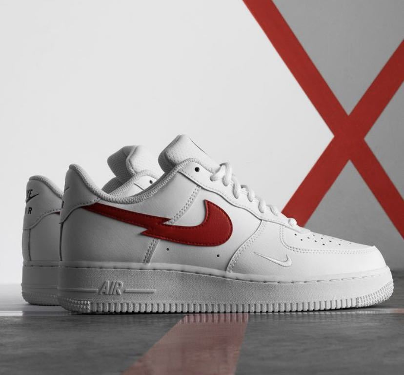 """26.5cm NIKE AIR FORCE 1 07 LOW """"Euro Tour"""" White/University Red新品正規品ナイキエアフォース1supreme ユーロツアー KITH clot_画像1"""