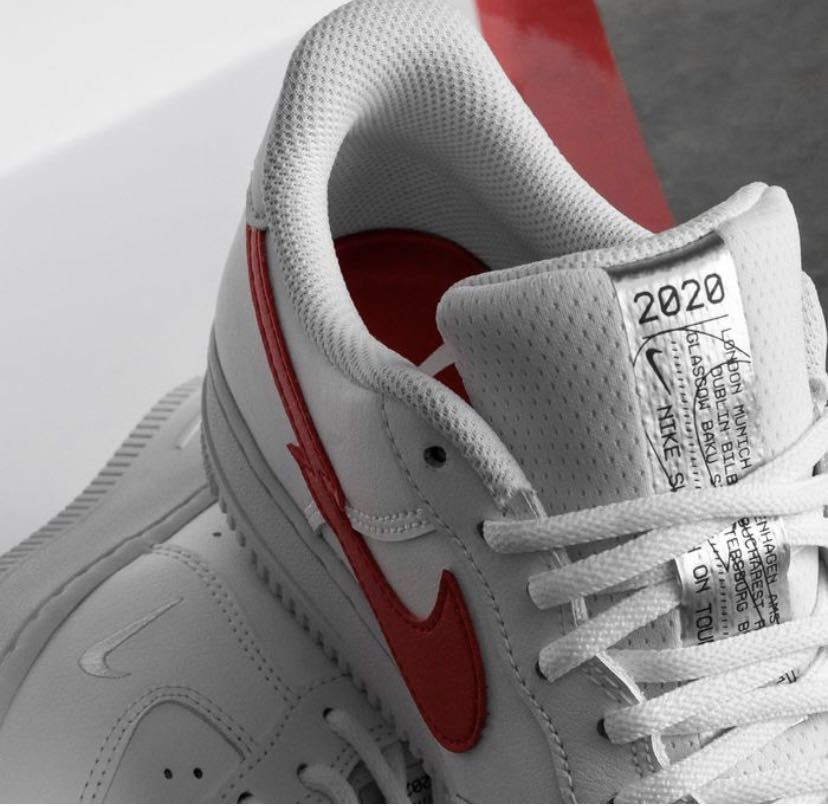 """26.5cm NIKE AIR FORCE 1 07 LOW """"Euro Tour"""" White/University Red新品正規品ナイキエアフォース1supreme ユーロツアー KITH clot_画像2"""