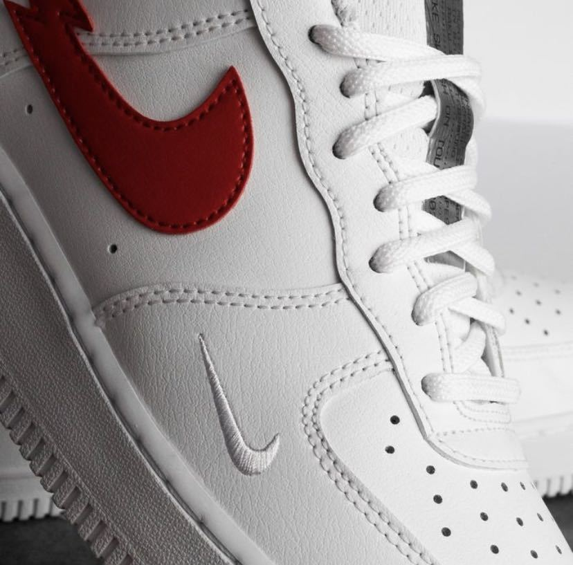 """26.5cm NIKE AIR FORCE 1 07 LOW """"Euro Tour"""" White/University Red新品正規品ナイキエアフォース1supreme ユーロツアー KITH clot_画像3"""