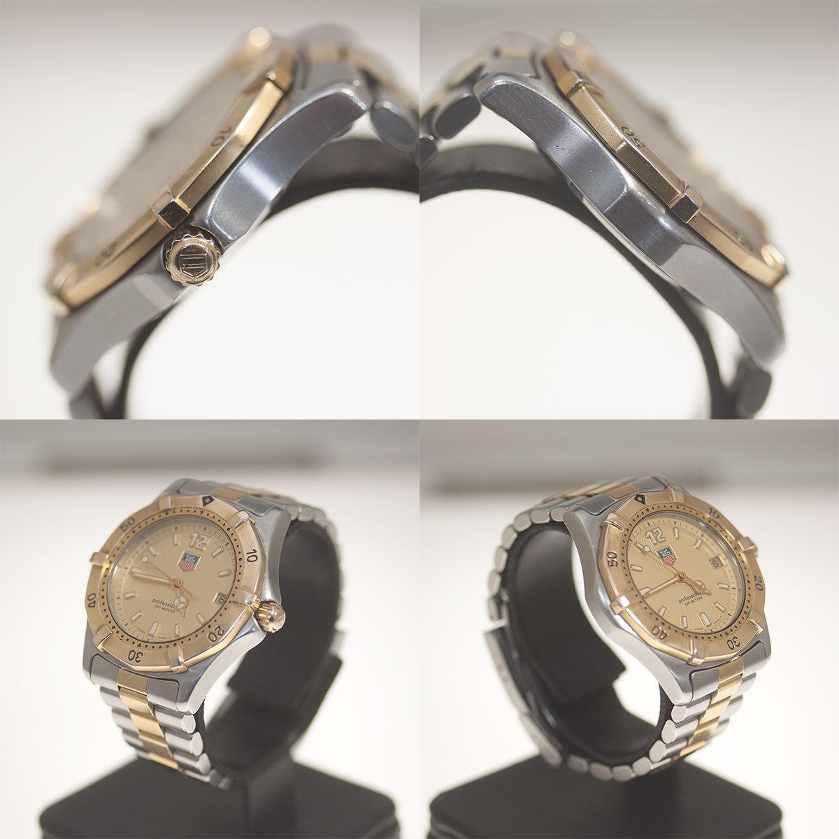 【TAG HEUER】タグホイヤー WK1121「プロフェッショナル 200m」クォーツ メンズ 腕時計【中古品】_画像6