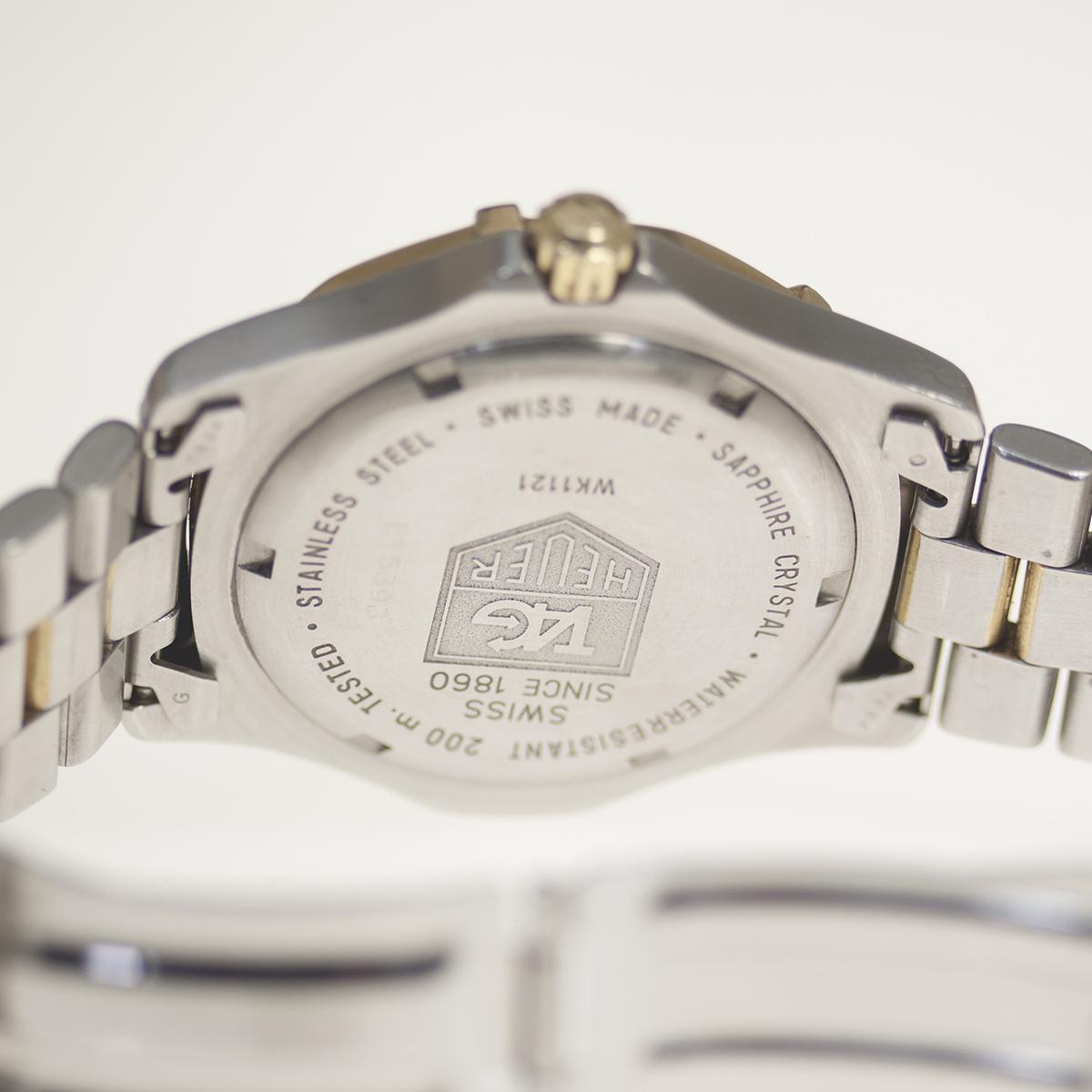 【TAG HEUER】タグホイヤー WK1121「プロフェッショナル 200m」クォーツ メンズ 腕時計【中古品】_画像7