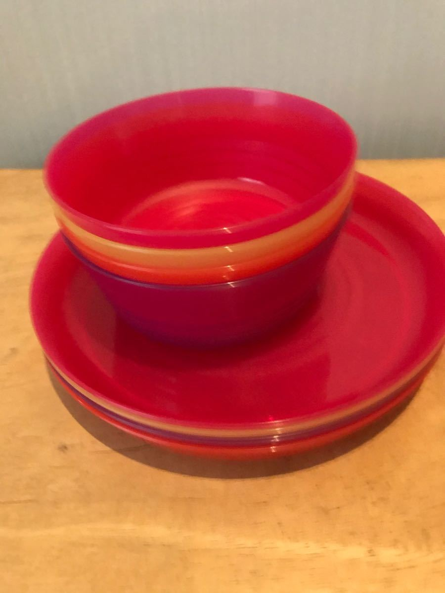 アウトドア食器4色セット