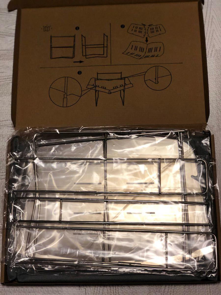 バーベキューコンロ 焚火台 キャンプ用品 串3本付き【新品未使用/送料無料】