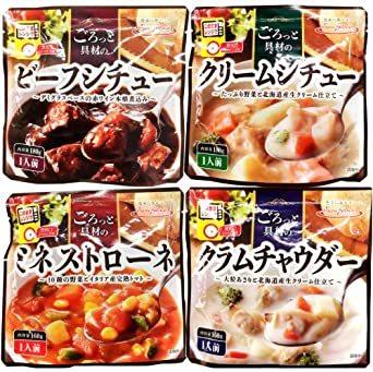 サンフーズ レンジで 簡単 シチュー スープ 4種類 12食 小袋鰹ふりかけ1袋 セット レトルト食品 常温保存_画像6