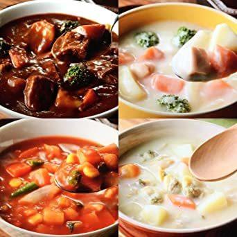 サンフーズ レンジで 簡単 シチュー スープ 4種類 12食 小袋鰹ふりかけ1袋 セット レトルト食品 常温保存_画像7