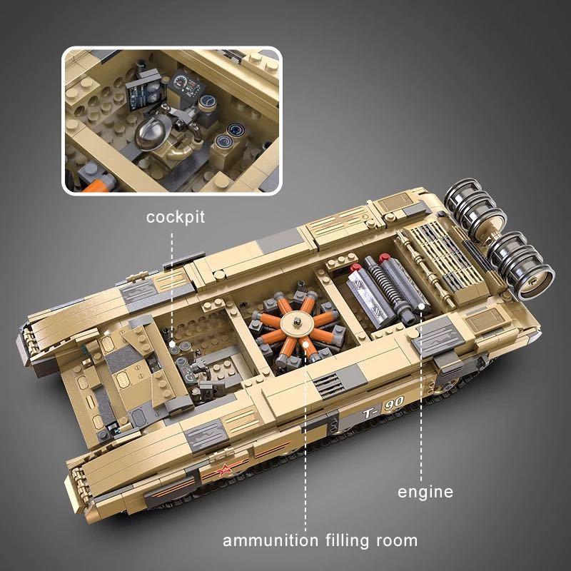 LEGO互換 T90 ラジコン_画像4