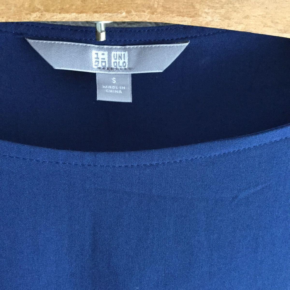 UNIQLO Tシャツ カットソー ネイビー