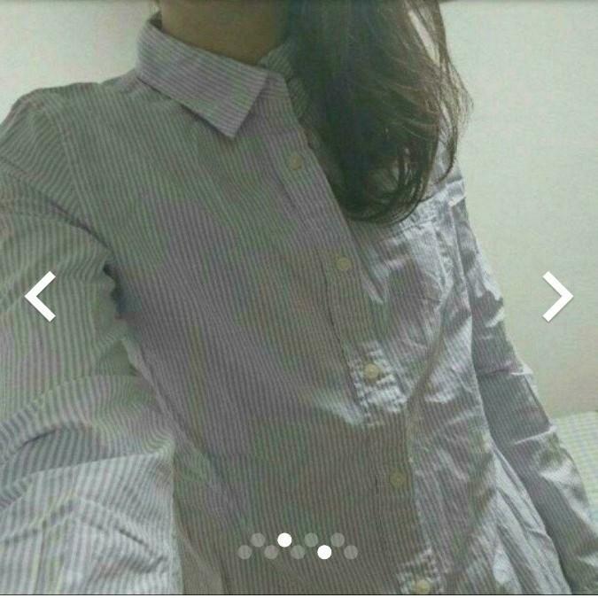ローリーズファームストライプシャツ  長袖シャツ