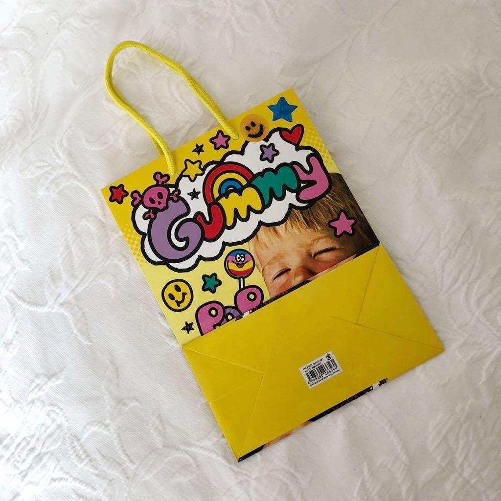 ★新品★男の子キャンディ柄★ショッパー★ショップ袋★手提げ袋★紙袋★手さげ袋★ラッピング袋★包装★トート★エコバッグ★ギフト★黄色