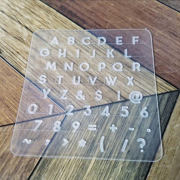 革細工 刻印プレート スタンプツール アルファベット 記号 レザークラフト ハンドメイド 7mm