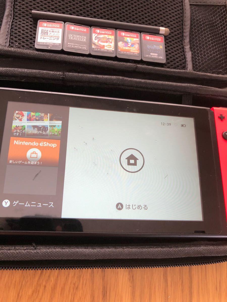 Nintendo Switch本体と5枚ソフト